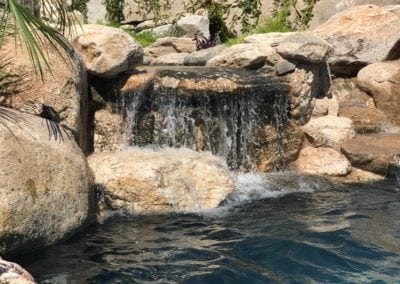 backyard pool water fall tucson