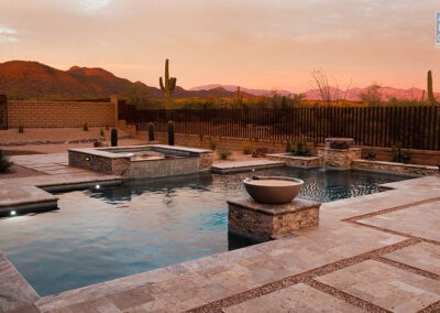 Los Saguaros Geometric Pool / Spa / Landscape © Julius Schlosburg Photography - Arzate Design Group